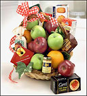 Fruit & Gourmet Basket for Sympathy Davis Floral Clayton Indiana from Davis Floral