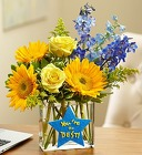 You're the Best Bouquet <br> in a Rectangle Vase Davis Floral Clayton Indiana from Davis Floral