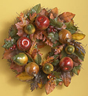 Glazed Fruit & Leaves Wreath  Davis Floral Clayton Indiana from Davis Floral