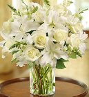 Classic All-White <br> Arrangement Davis Floral Clayton Indiana from Davis Floral