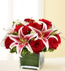 Rose and Lily <BR>Cube Bouquet Davis Floral Clayton Indiana from Davis Floral