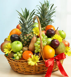 Deluxe All Fruit Basket Davis Floral Clayton Indiana from Davis Floral