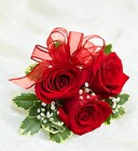 Red Rose Corsage Davis Floral Clayton Indiana from Davis Floral
