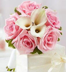 Pink and White <br>Petite Bouquet Davis Floral Clayton Indiana from Davis Floral