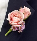 Pink Ring Bearer <br>Boutonnire Davis Floral Clayton Indiana from Davis Floral