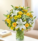 Ultimate Elegance<br>Yellow and White Davis Floral Clayton Indiana from Davis Floral