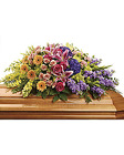 Garden of Sweet Memories <br>  Casket Spray Davis Floral Clayton Indiana from Davis Floral