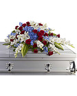 Distinguished Service <br> Casket Spray Davis Floral Clayton Indiana from Davis Floral