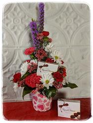 Heart of Hearts Bouquet <br> With Chocolates