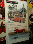 1955 Chevy Belair Sign <br> with Authentic Ornaments Davis Floral Clayton Indiana from Davis Floral