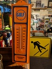 Gulf Oil Dealer Thermometer Davis Floral Clayton Indiana from Davis Floral
