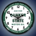 Quaker State <br> Oil Clock Davis Floral Clayton Indiana from Davis Floral