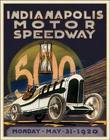 Indianapolis Motor Speedway 500 <br> 1920 Cover sign  Davis Floral Clayton Indiana from Davis Floral