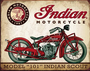 Model 101 Indian Scout <br> Motorcycle Tin Sign  Davis Floral Clayton Indiana from Davis Floral