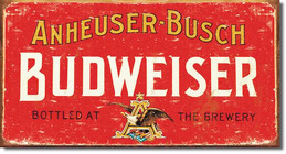 Budweiser Weathered Tin Sign  Davis Floral Clayton Indiana from Davis Floral