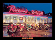 Rosie's Diner Ride <br> To Live Tin Sign  Davis Floral Clayton Indiana from Davis Floral