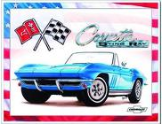 65 Chevy Corvette <br> Stingray Tin Sign  Davis Floral Clayton Indiana from Davis Floral
