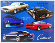 Chevy Camero 5 Generations <br> Tin Sign Davis Floral Clayton Indiana from Davis Floral