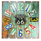 Plank Board Route 66 <br> Wall Clock Davis Floral Clayton Indiana from Davis Floral