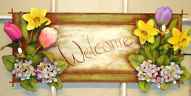 Spring Welcome Sign Davis Floral Clayton Indiana from Davis Floral