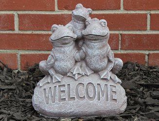 Ornamental Concrete <br> Welcome Frogs