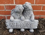 Ornamental Concrete <br> Welcome Bunnies Davis Floral Clayton Indiana from Davis Floral